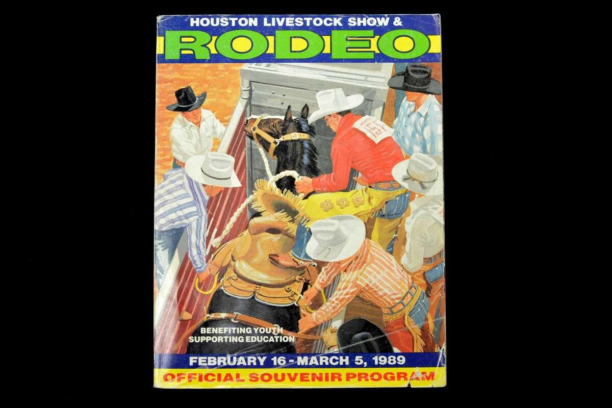 1989 Houston Livestock Show and Rodeo souvenir program.