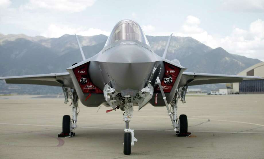 An F-35 jet sits on the tarmac at Hill Air Force Base, in northern Utah. Photo: Rick Bowmer / Associated Press / Copyright 2019 The Associated Press. All rights reserved.