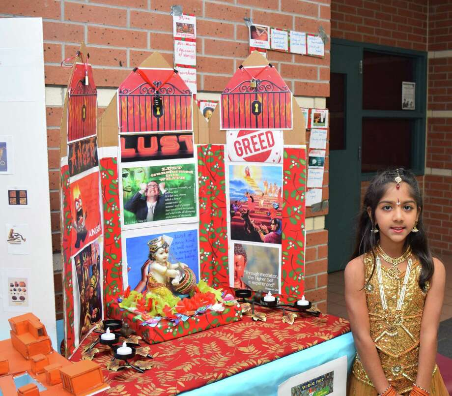 A presentation on Bhagwad Githa by Aarya Joshi. VEDIC Fair comes to Katy and is all about celebrating Indian culture. Photo: Courtesy Of VEDIC Fair