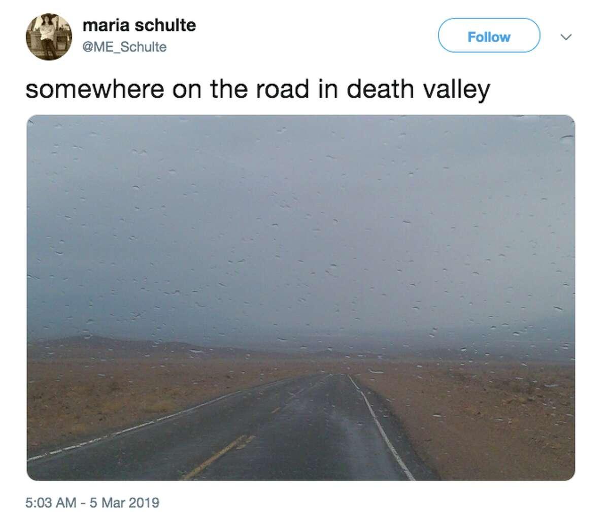 Death Valley National Park saw unusually heavy rain March 5-6, 2019.