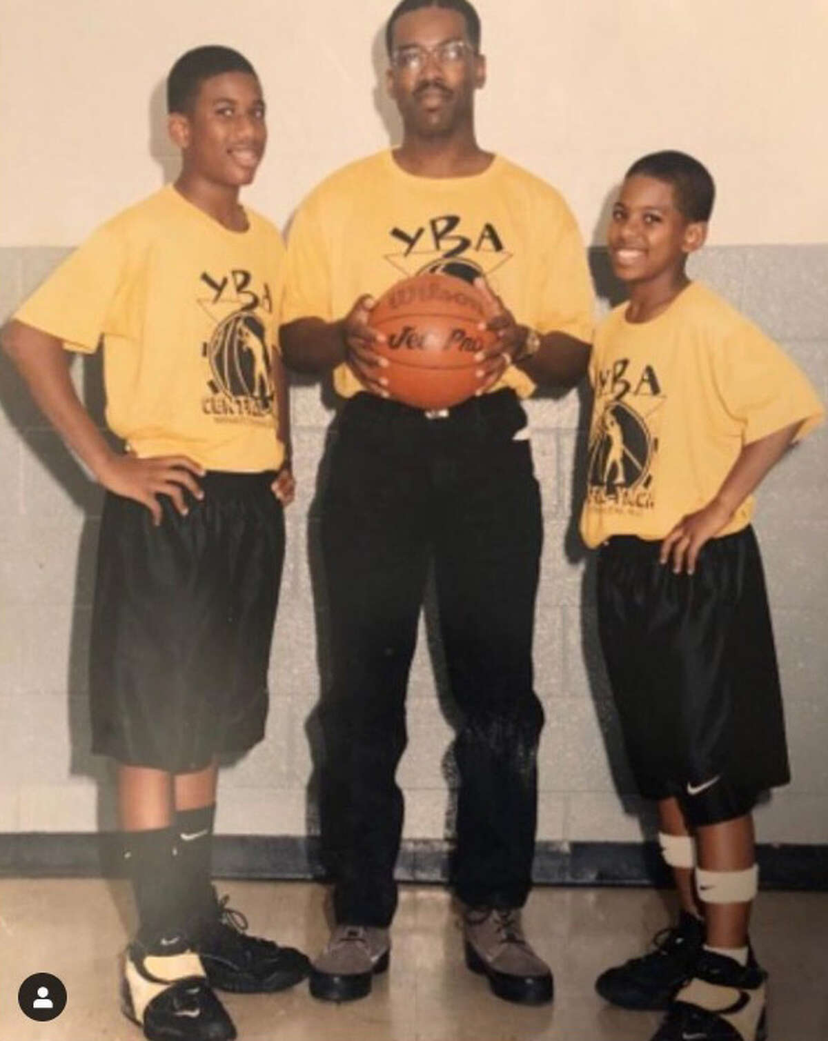 Houston Rockets When They Were Kids This kid on the right rocked the wristbands on his calves as a kid and grew up to be one of the leaders of the Rockets.