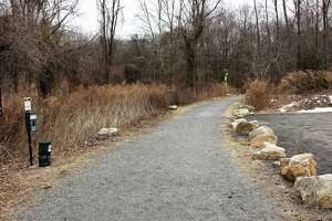 Charlie Taney, executive director of the Norwalk River Valley Trail, shows off part of the Norwalk River Valley Trail on Wednesday, February 27, 2019.