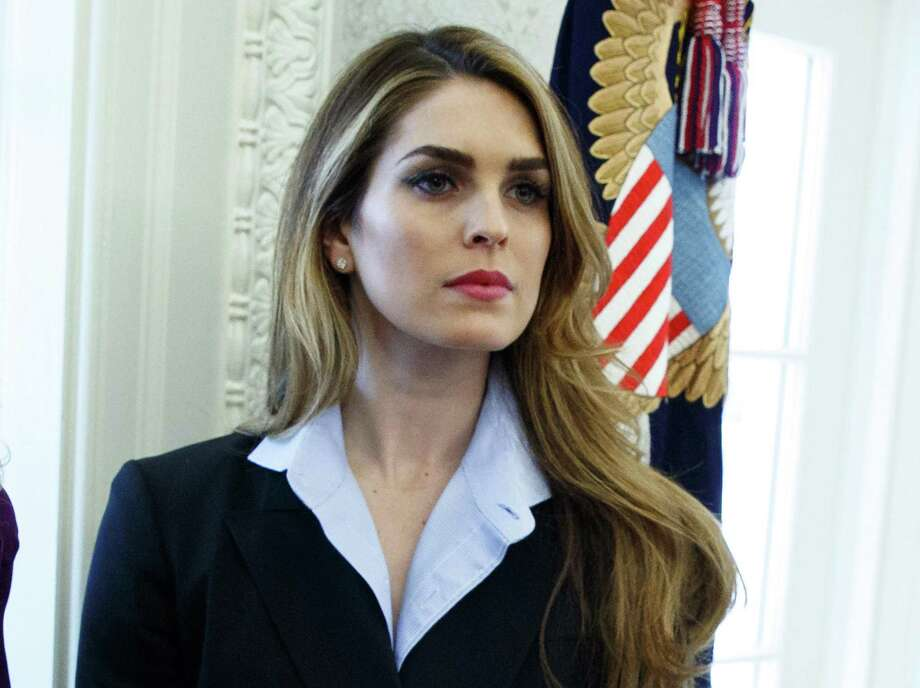 In this Feb. 9, 2018 photo, Hope Hicks appears in the Oval Office at the White House in Washington. Photo: Associated Press File Photo / Copyright 2018 The Associated Press. All rights reserved.