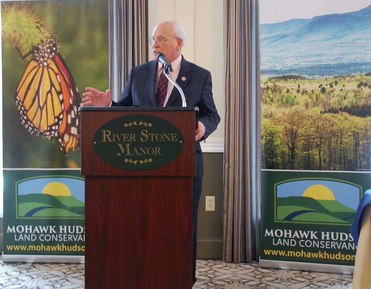 Mohawk Hudson Land Conservancy held its awards dinner and climate panel at the River Stone Manor in Schenectady on Feb. 24. After the ceremony celebrating those who lead conservation in the Capital Region, U.S. Rep. Paul Tonko spoke. (Provided)
