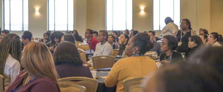 Students involved with the Lone Star College System's Student Success Institute, focused on helping African-American students succeed, attend a Student Leadership Conference Feb. 22, 2018 at LSC-North Harris. Photo: Courtesy Photos / Courtesy Photos