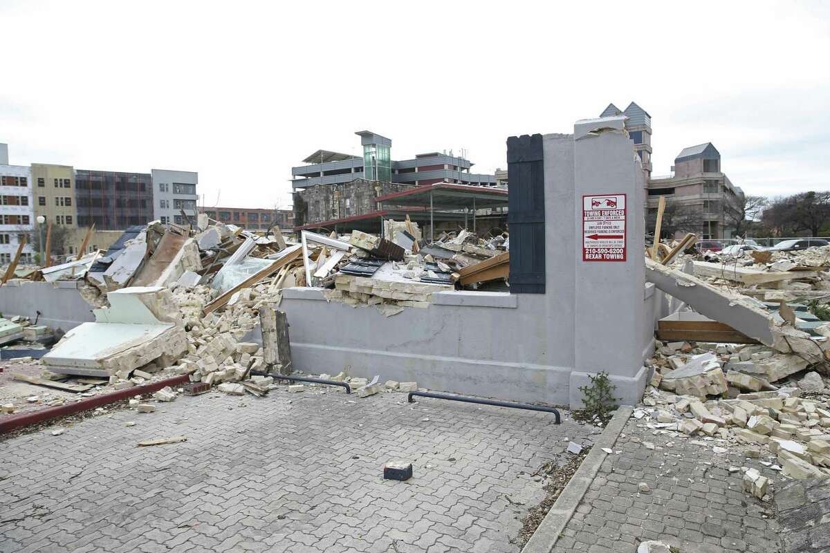 Developer GrayStreet Stumberg has sued the city over a notice of violation the company received for allegedly removing trees without a permit during demolition work at the corner of Nueva and Main.
