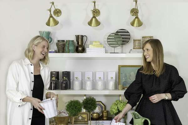 Devon Liedtke and Paloma Contreras of Paloma & Co., a home decor store in Houston.