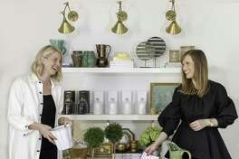 Devon Liedtke and Paloma Contreras of Paloma & Co., a home decor store in Houston.