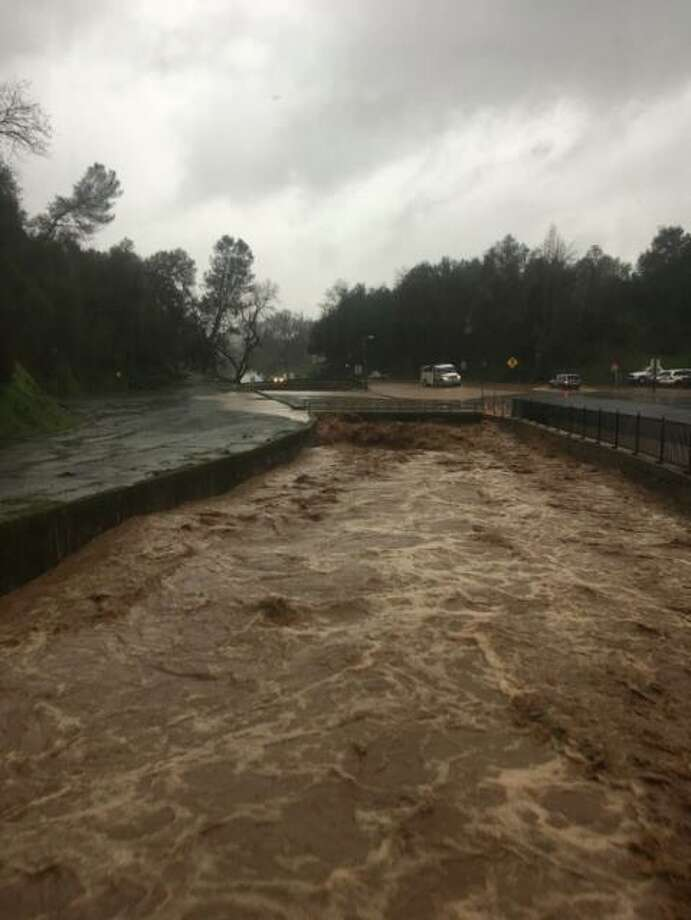 Flooding is seen in Tuolumne County on Wednesday, March 6, 2019. Photo: Tuolumne County Sheriff's Office
