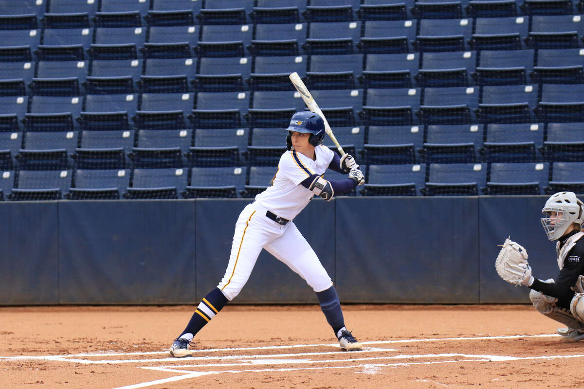 Colonie High graduate Marisa Sholtes of North Carolina Greensboro's softball team. (Carlos Morales / UNC Greensboro)