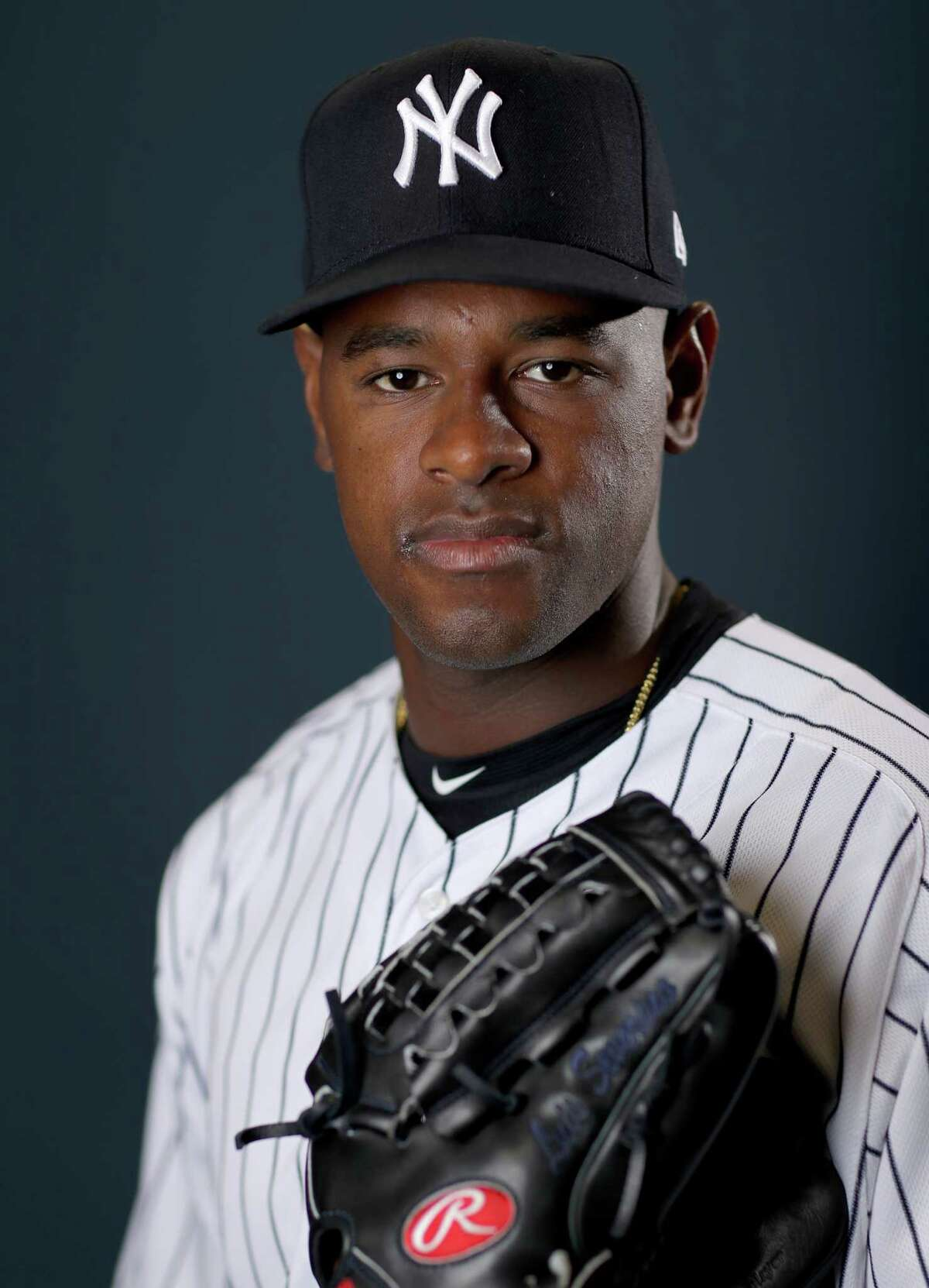 TAMPA, FLORIDA - FEBRUARY 21: Luis Severino #40 of the New York Yankees poses for a portrait during the New York Yankees Photo Day on February 21, 2019 at George M. Steinbrenner Field in Tampa, Florida. (Photo by Elsa/Getty Images)