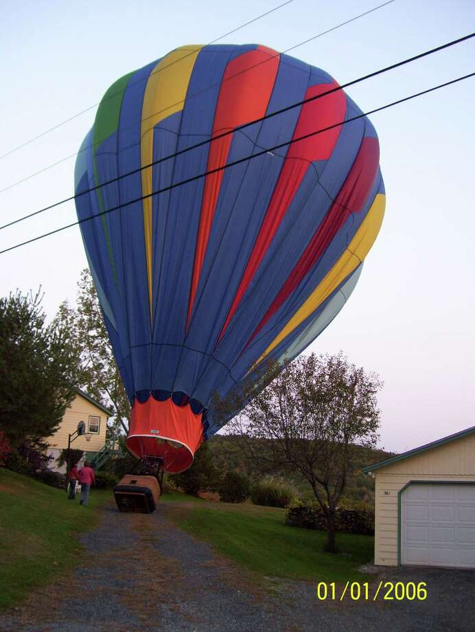 """Paul Keane muses about whether the balloon from """"The Wizard of Oz"""" landed in his driveway in Vermont. Photo: Paul Keane"""