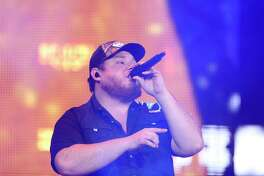 Luke Combs performs for the Houston Rodeo at NRG Stadium on Wednesday, March 6, 2019.