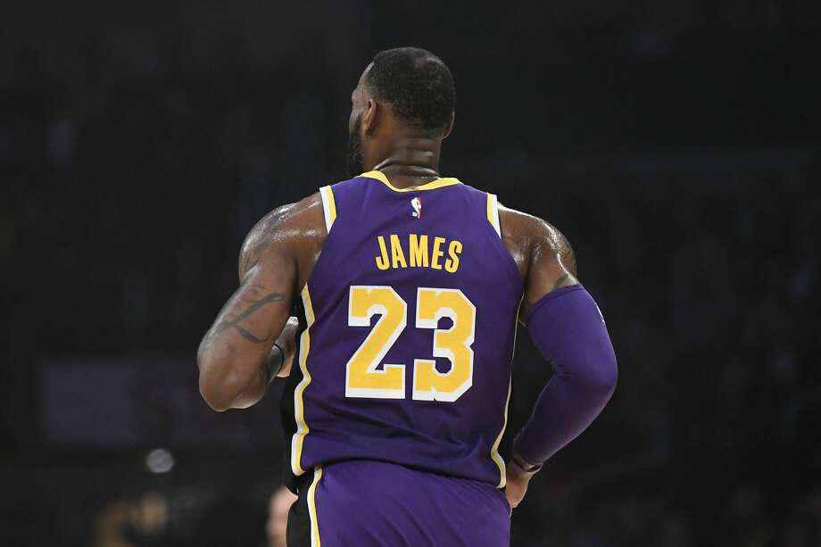 PHOTOS: 2019-20 Rockets game-by-game LOS ANGELES, CALIFORNIA - MARCH 06: A detail of the jersey of LeBron James #23 of the Los Angeles Lakers during the first quarter against the Denver Nuggets at Staples Center on March 06, 2019 in Los Angeles, California. (Photo by Robert Laberge/Getty Images) >>>See how the Rockets have fared in each game this season ... Photo: Robert Laberge/Getty Images