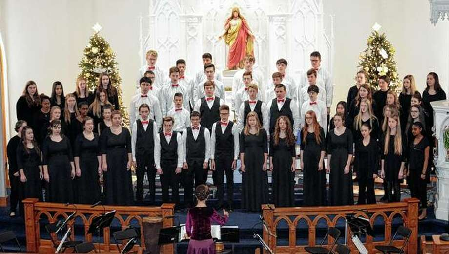 The Singing Saints choir of Saint Paul Lutheran High School in Concordia, Missouri, is making Salem Lutheran Church in Jacksonville the first stop on its annual domestic tour. Photo: Photo Provided