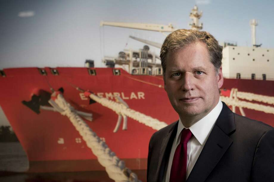 "Steven Kobos is the managing director Excelerate Energy, a company that is emerging as global leader in ""floating LNG"" industry. The Woodlands-based liquefied natural gas company Excelerate Energy has landed a contract to develop an offshore LNG import terminal in The Philippines. Photo: Brett Coomer, Houston Chronicle / Staff Photographer / © 2019 Houston Chronicle"