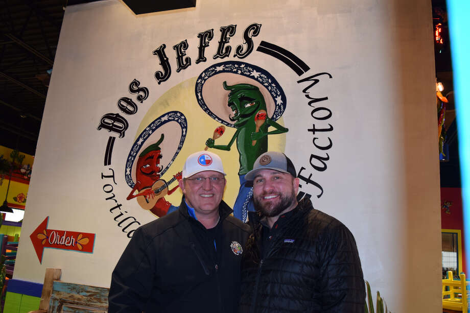 Dos Jefes (L-R)JD Dickerson and Justen Quebe opened the doors to their fast casual eating establishment on Tuesday. Photo: Ellysa Harris