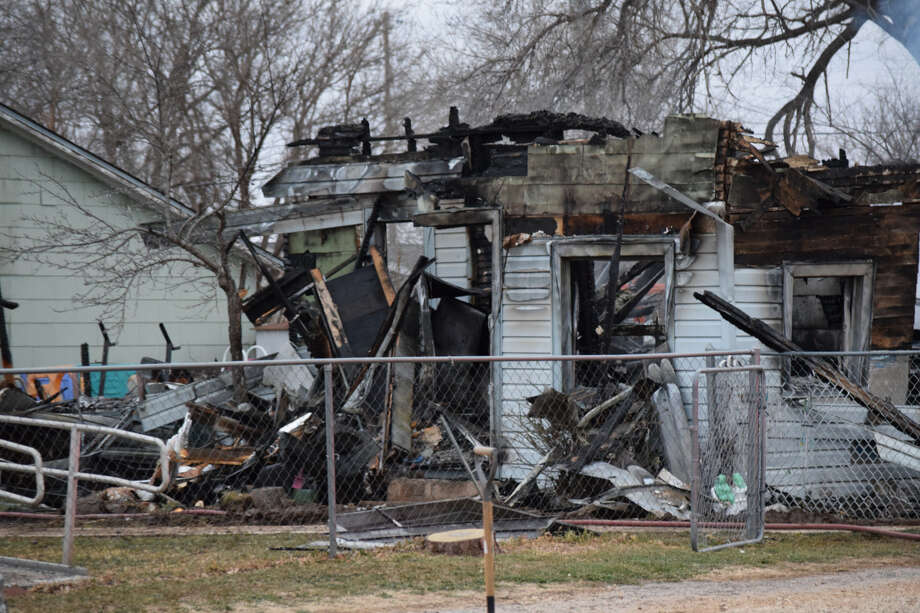 Floyd County first responders battled a structure fire at the 700 block of SW Third St. in Lockney Monday. Photo: Ellysa Harris/Plainview Herald