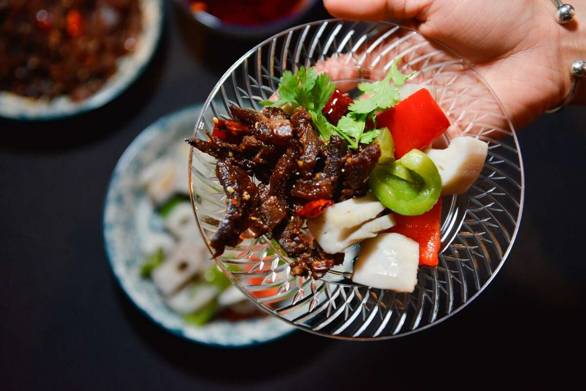 """Szechuan brisket from Sichuan House at the release of the Express-News """"Top 100 Dining & Drinks"""" guide at the McNay Art Museum."""