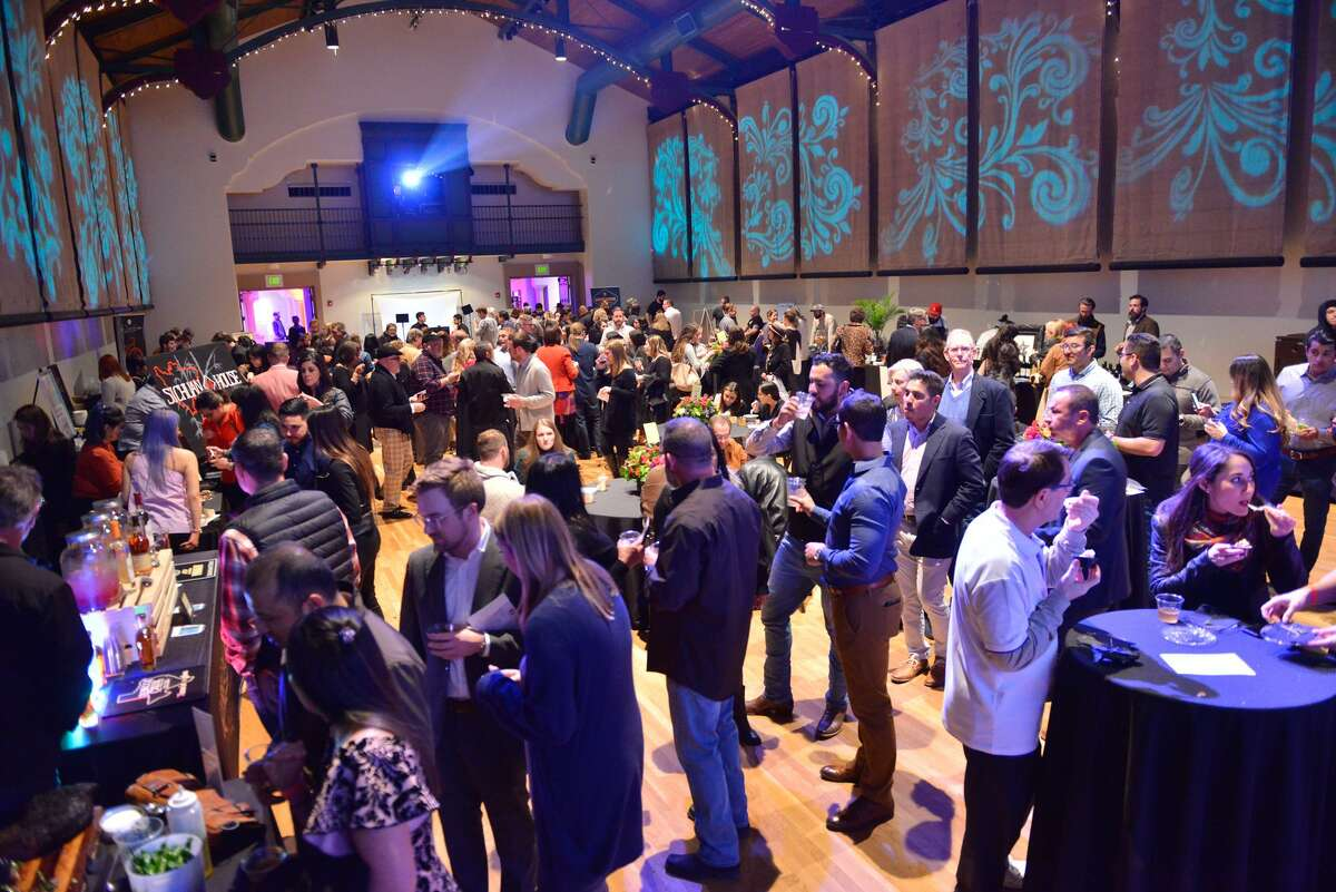 """The crowd at the release of the Express-News """"Top 100 Dining & Drinks"""" guide at the McNay Art Museum."""