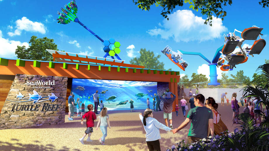 Set to open later this spring, one of Sea World San Antonio's new three experiences is Turtle Reef, an interactive sea turtle attraction. Photo: Sea World San Antonio