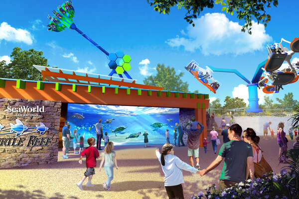 Set to open later this spring, one of Sea World San Antonio's new three experiences is Turtle Reef, an interactive sea turtle attraction.