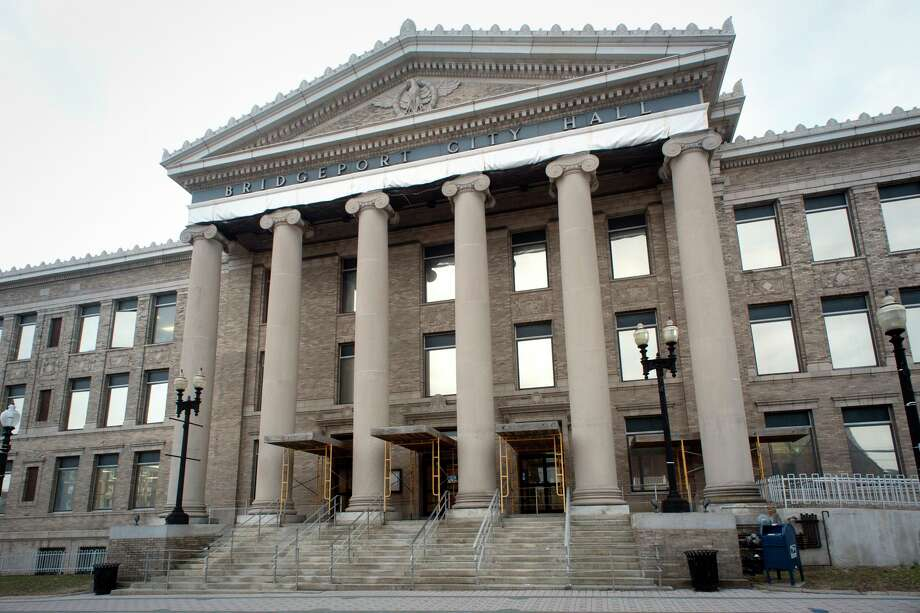 The exterior of Bridgeport City Hall in Bridgeport. Photo: Ned Gerard / Hearst Connecticut Media / Connecticut Post