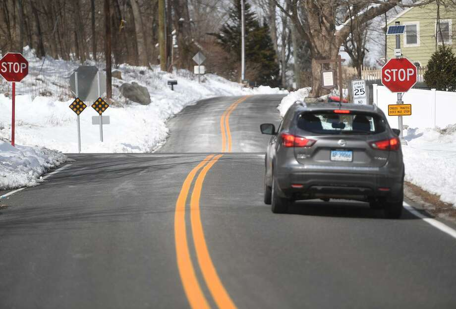 In spite of added signage, the intersection of Wheeler Road and Route 110 in Monroe, Conn. continues to be the site of regular automobile accidents. Photo: Brian A. Pounds / Hearst Connecticut Media / Connecticut Post