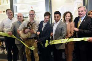 The ribbon cutting ceremony for Beekman 1802 takes place in its new headquarters on Thursday, March 7, 2019 in Schenectady, NY. (Phoebe Sheehan/Times Union)