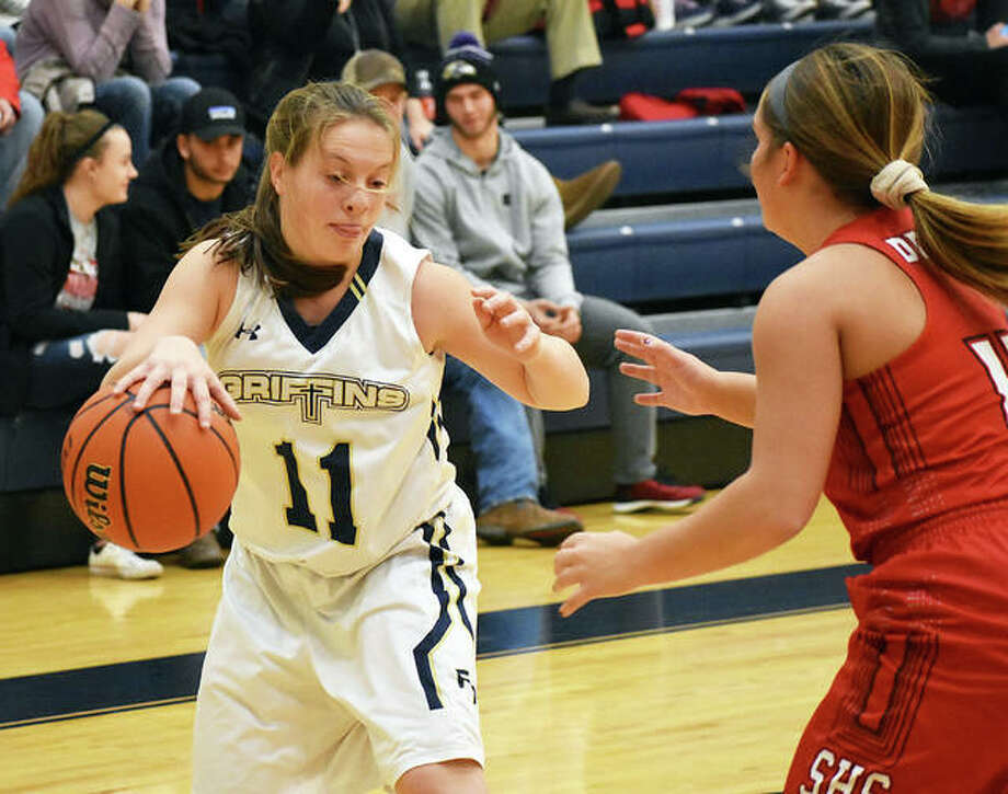 FMCHS junior guard Macy Hoppes was named to the All-PSC first team. Photo: Matt Kamp/Intelligencer