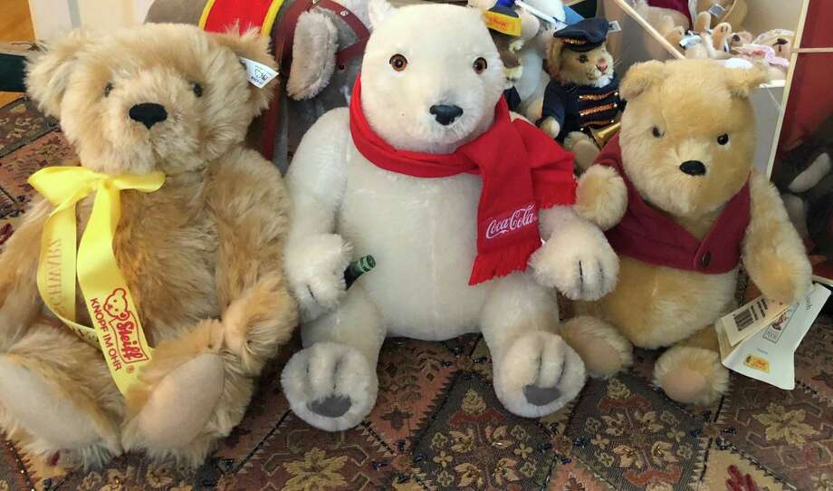 Steiff bears are among the auction items. Photo: Morris Public Library / Contributed Photos