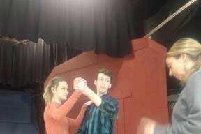 "Rehearsals for Warrensburg Junior/Senior High School's production of ""Oklahoma!"""