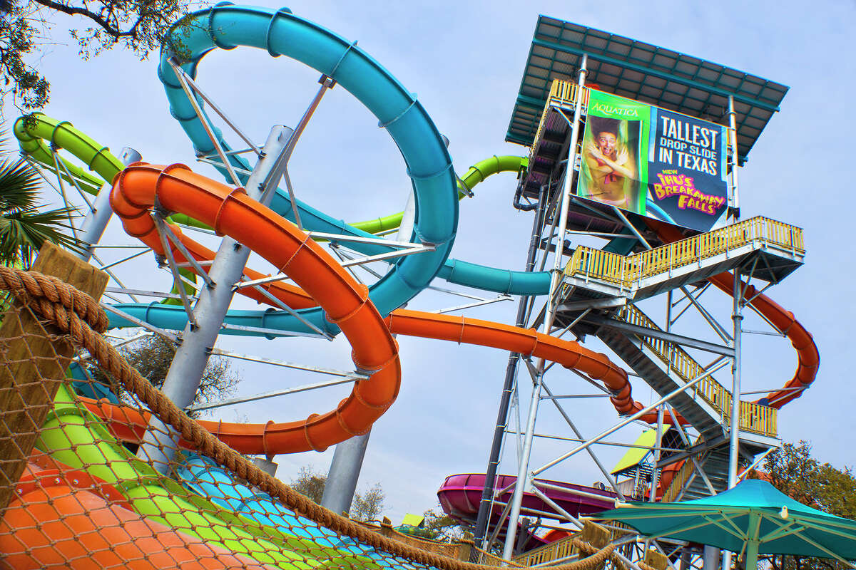 Ihu's Breakaway Falls, the tallest multi-tower drop slide in Texas, according to the company, will open March 9.