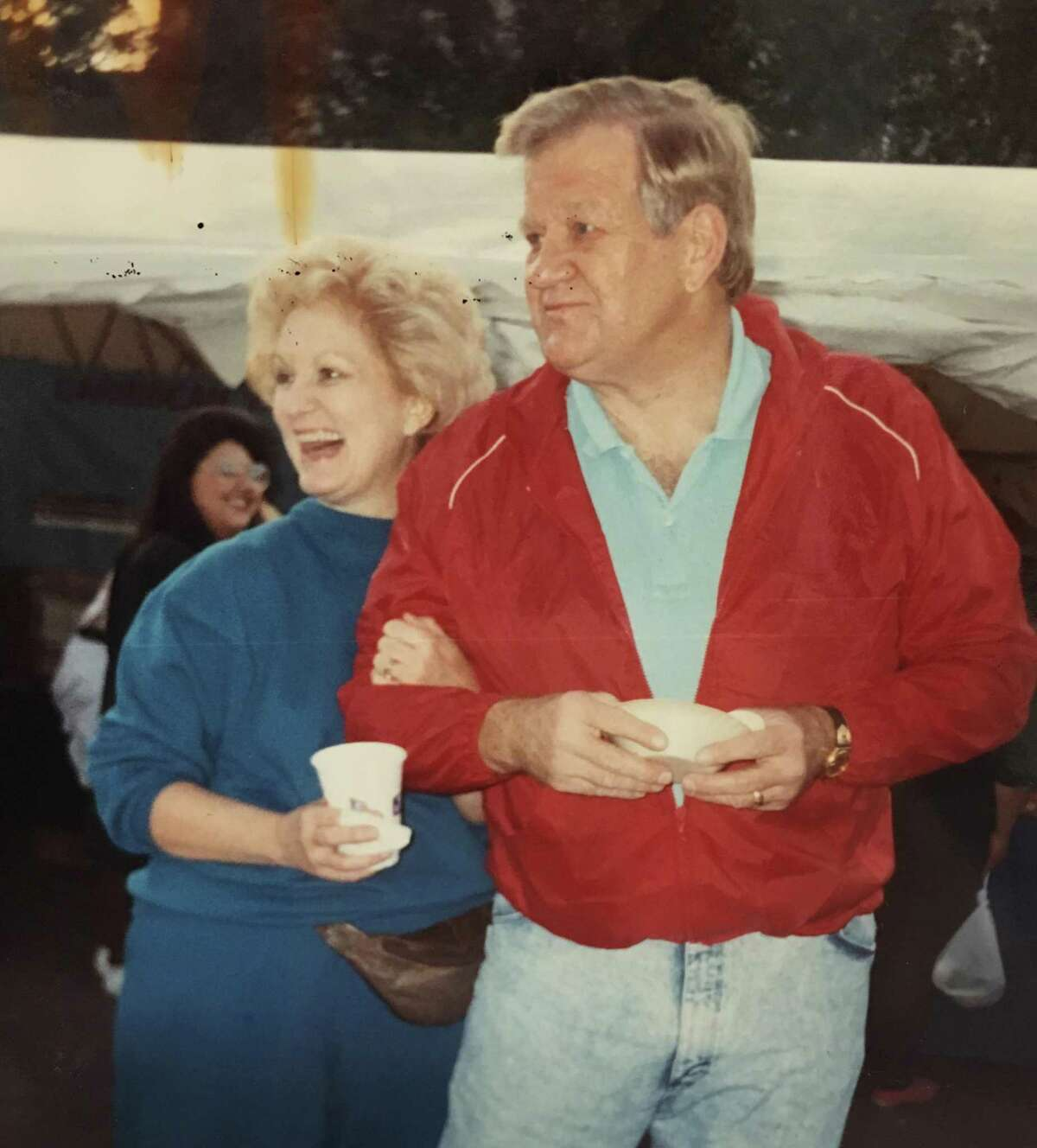 Bobby and Kay Weise at a Conroe function. Kay Weise taught English at Conroe High School for many years and Bobby Weise was a coach and lead the 1968 Conroe Tigers to the state basketball tournament. Kay Weise passed away in February 2015 and Bobby Weise passed away in March 2018.