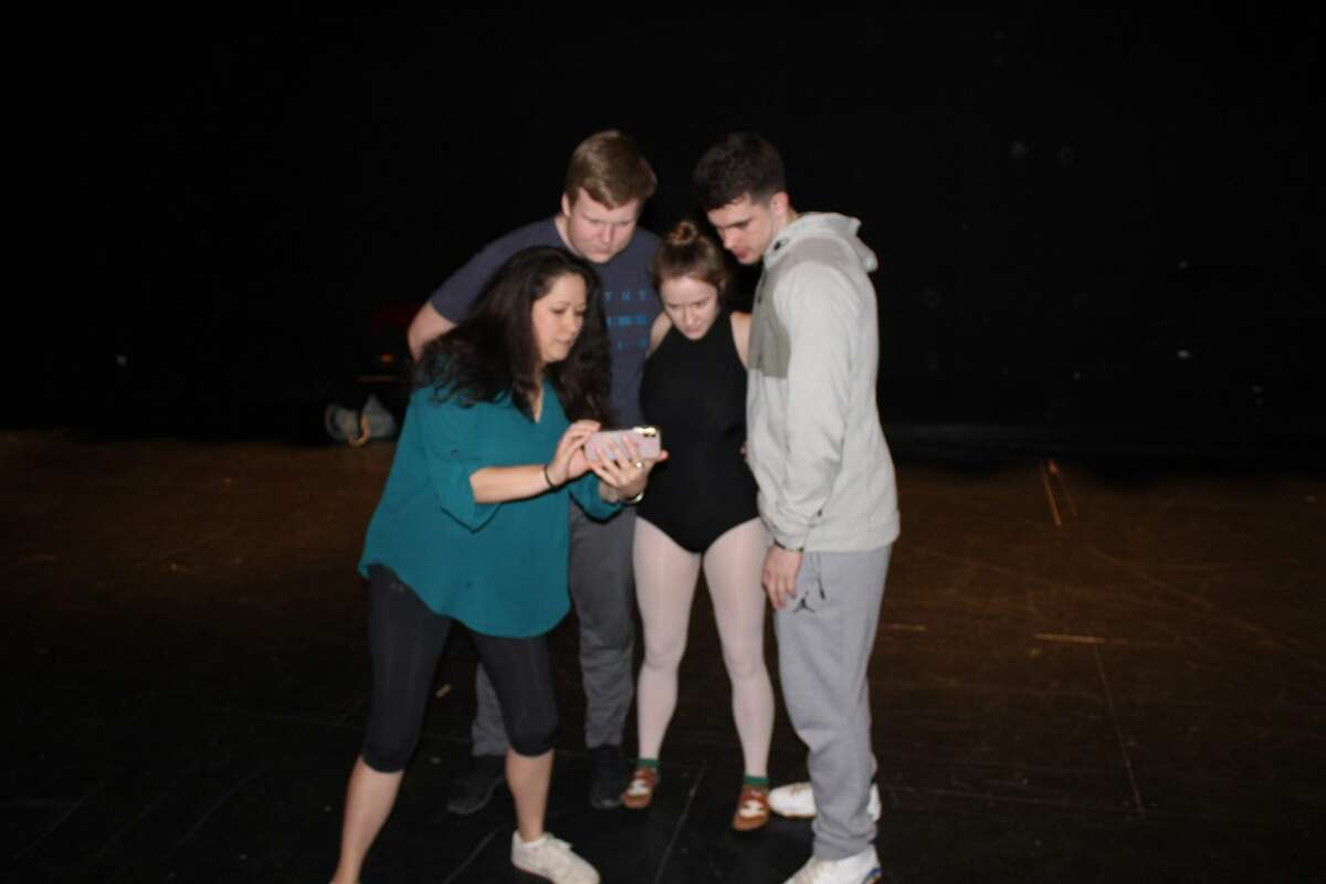 Rehearsals for the Glens Falls High School production of