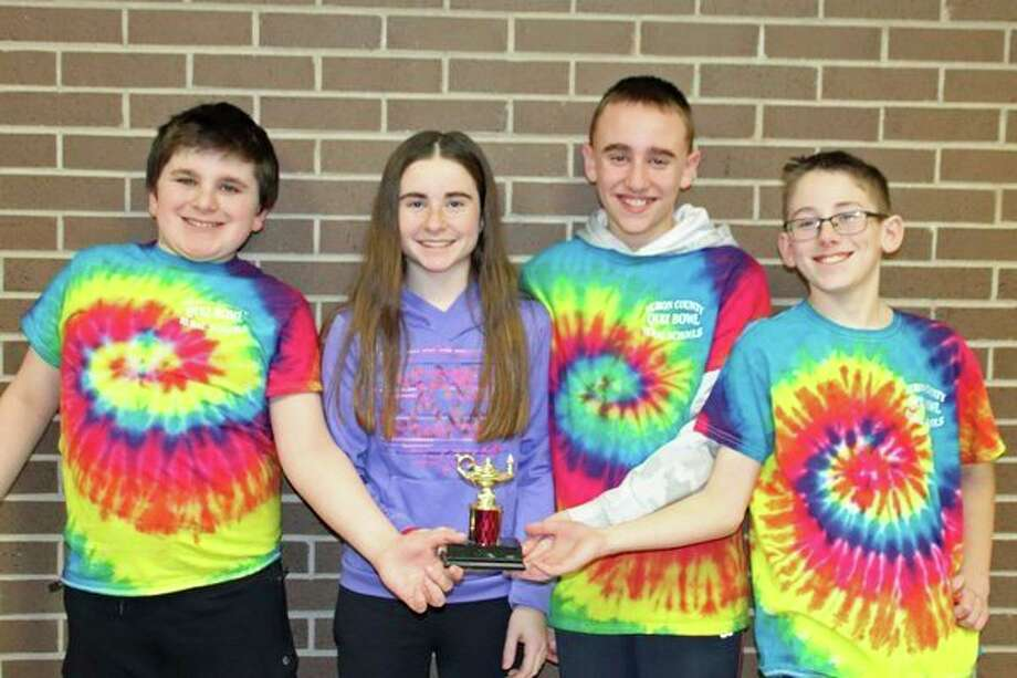The Huron Area Rural Schools 2 was second in the competition. Team members are James Gray (Eccles), Sydney Pawlowski (Eccles), Mason Ramsey (Eccles) and Dawson Shepherd (Eccles). (Submitted Photo)