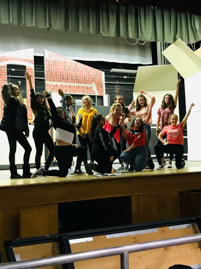 """Rehearsals for Colonie Central High School's production of """"Legally Blonde the Musical."""" Photo: Colonie Central High School"""