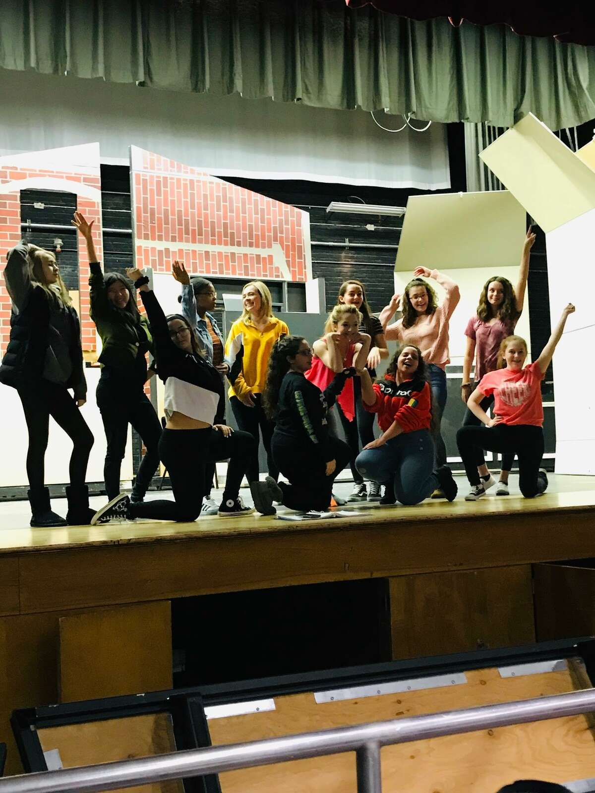 """Rehearsals for Colonie Central High School's production of """"Legally Blonde the Musical."""""""