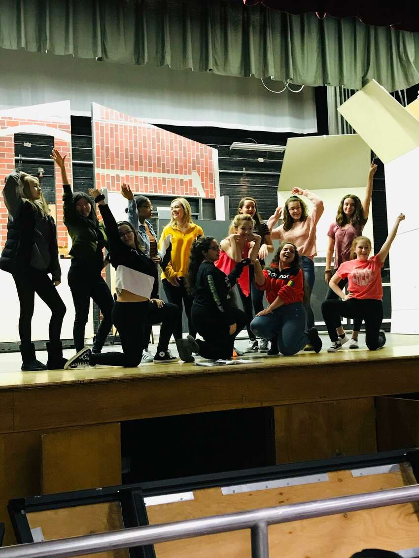 Rehearsals for Colonie Central High School's production of