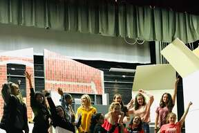 "Rehearsals for Colonie Central High School's production of ""Legally Blonde the Musical."""
