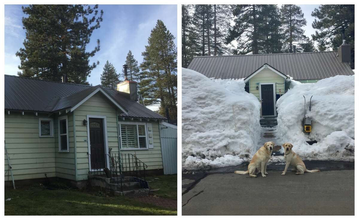 A Truckee house without snow and in February 2019 amid a winter marked by high snowfall.