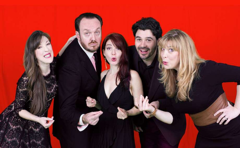 """The cast of The Music Box pictured from left includes Kristina Sullivan, Luke Wrobel, Cay Taylor, Brad Scarborough and Rebekah Dahl. Their most recent offering is """"The Best of Broadway"""" which runs at the Music Box Theatre through April 20. Photo: Photo Courtesy Music Box Theatre"""
