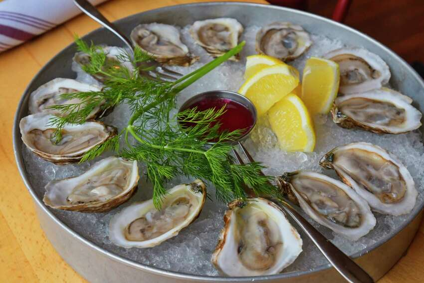 A view of savage blonde oysters at Plumb Oyster Bar on Wednesday, Feb. 20, 2019, in Troy, N.Y. (Paul Buckowski/Times Union)
