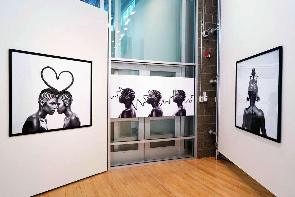 Shani Crowe, installation view, 2016. Digital prints. Photo Wm Jaeger
