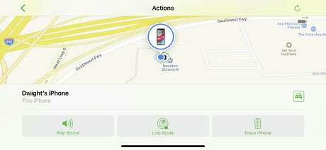 The Find My iPhone app can show you where your iPhone is located. If your iPhone is lost or stolen, you can use someone else's iPhone or iPad to help locate it.
