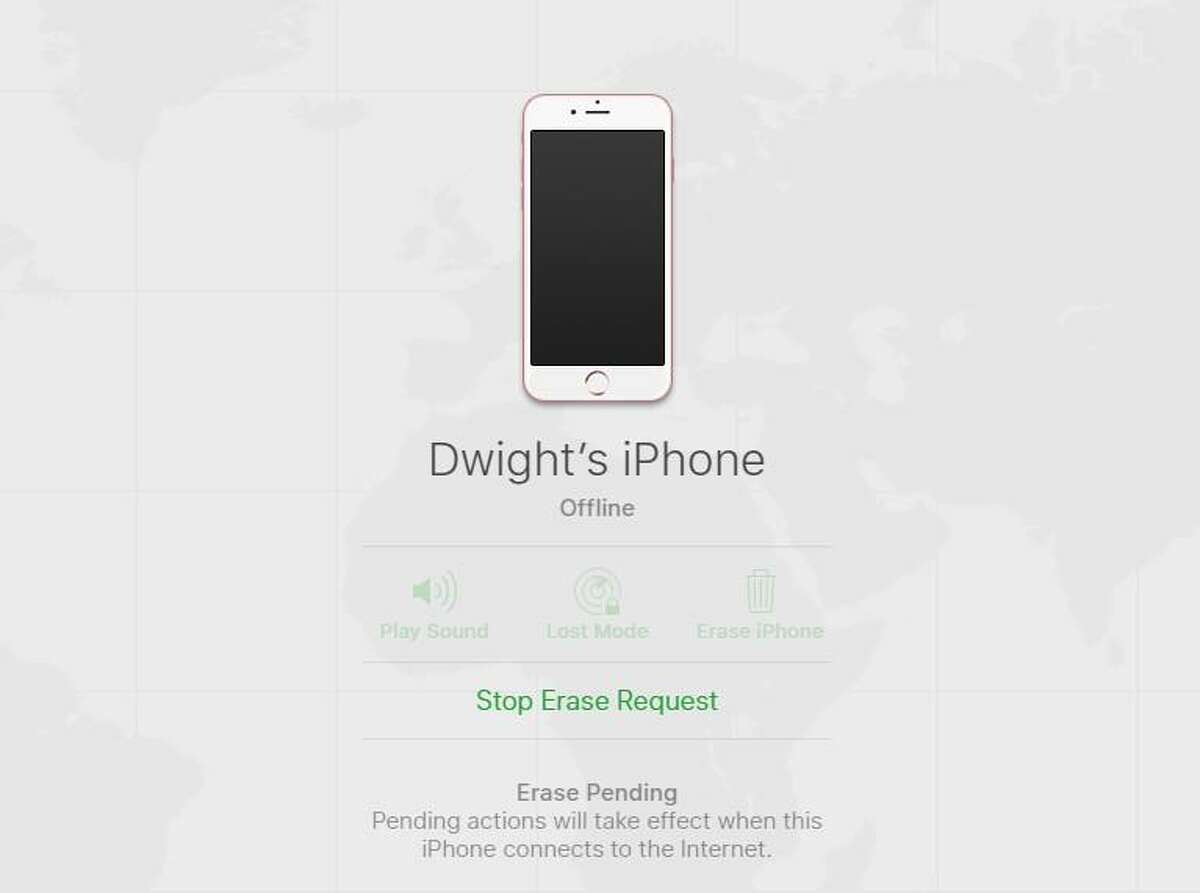 You can submit a command via Find My iPhone to erase a lost or stolen device, even if the device is turned off. When it does reconnect to the internet, it will be wiped clean.
