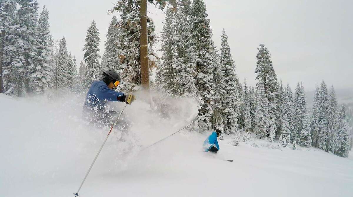Skier shreds the pow at Tahoe. It will be a white Christmas at Northstar at Tahoe, courtesy of early December storms that has given the ski resort a 28-inch base. This week Northstar was operating 13 of 20 lifts.