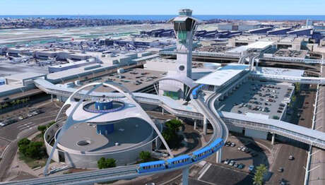 The costliest current airport project is LAX's $2.6 billion people-mover. Photo: Los Angeles World Airports
