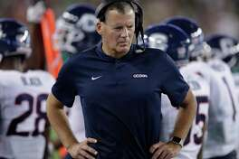 UConn coach Randy Edsall during the first half against South Florida on Oct. 20.