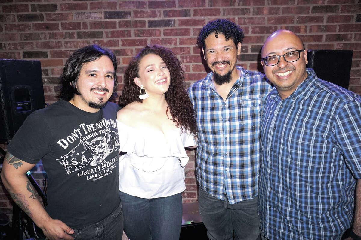 Art Cisneros, Marissa Mata - Ayala, Curly Castillo and Marc Solis at Rooftop Lounge